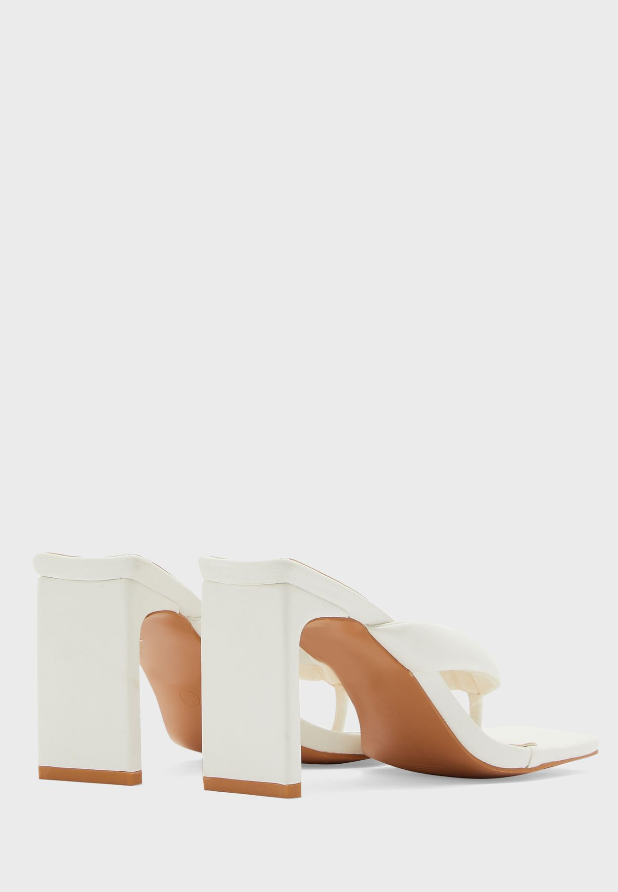 Square Toe Thong Mule