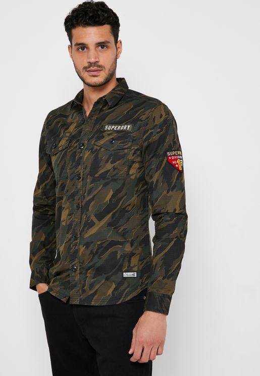 Military Storm Camo Regular Fit Shirt