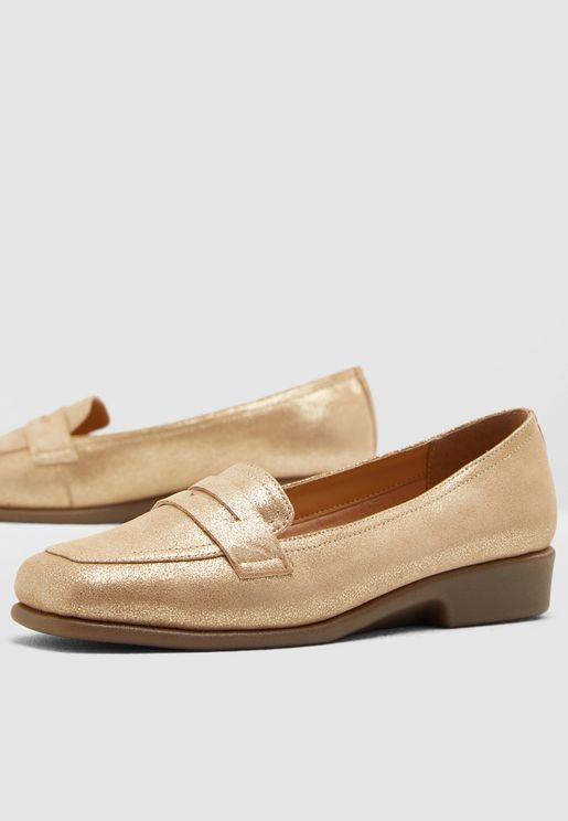 حذاء كاجوال ميتاليك سهل الارتداء