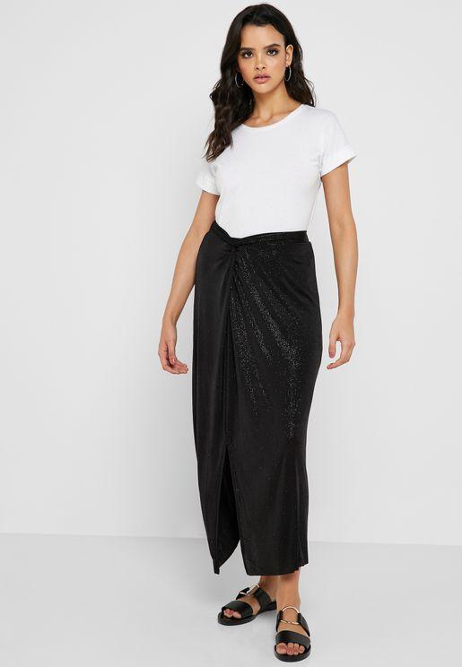 894a798fff8 Front Slit Wrap Skirt