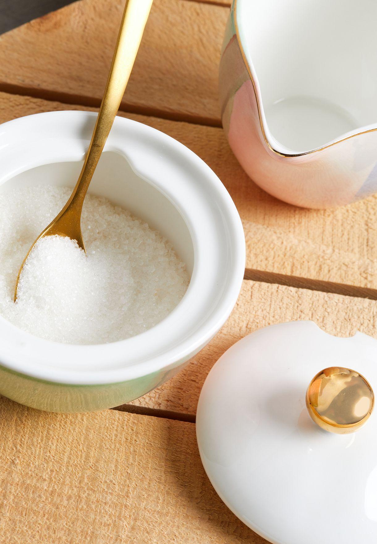 Hand Painted Sugar Pot & Milk Jug Set