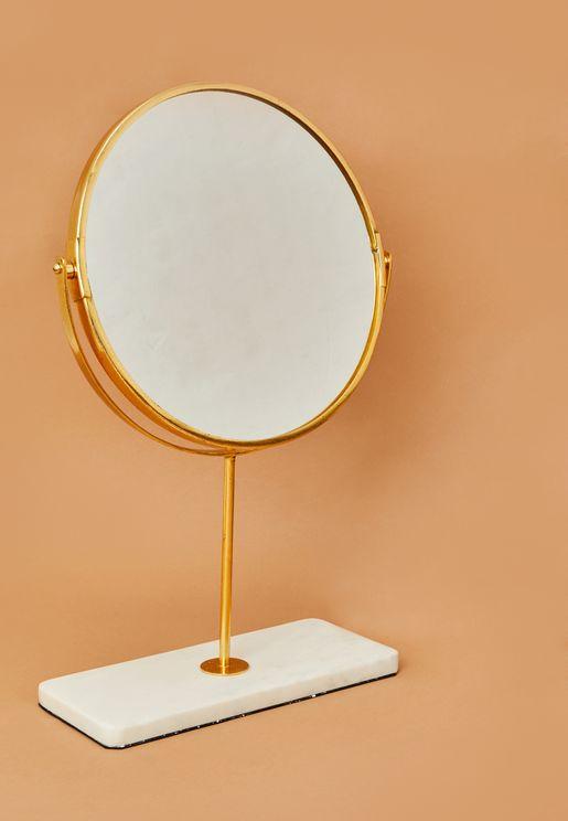 Minimal Round Table Mirror