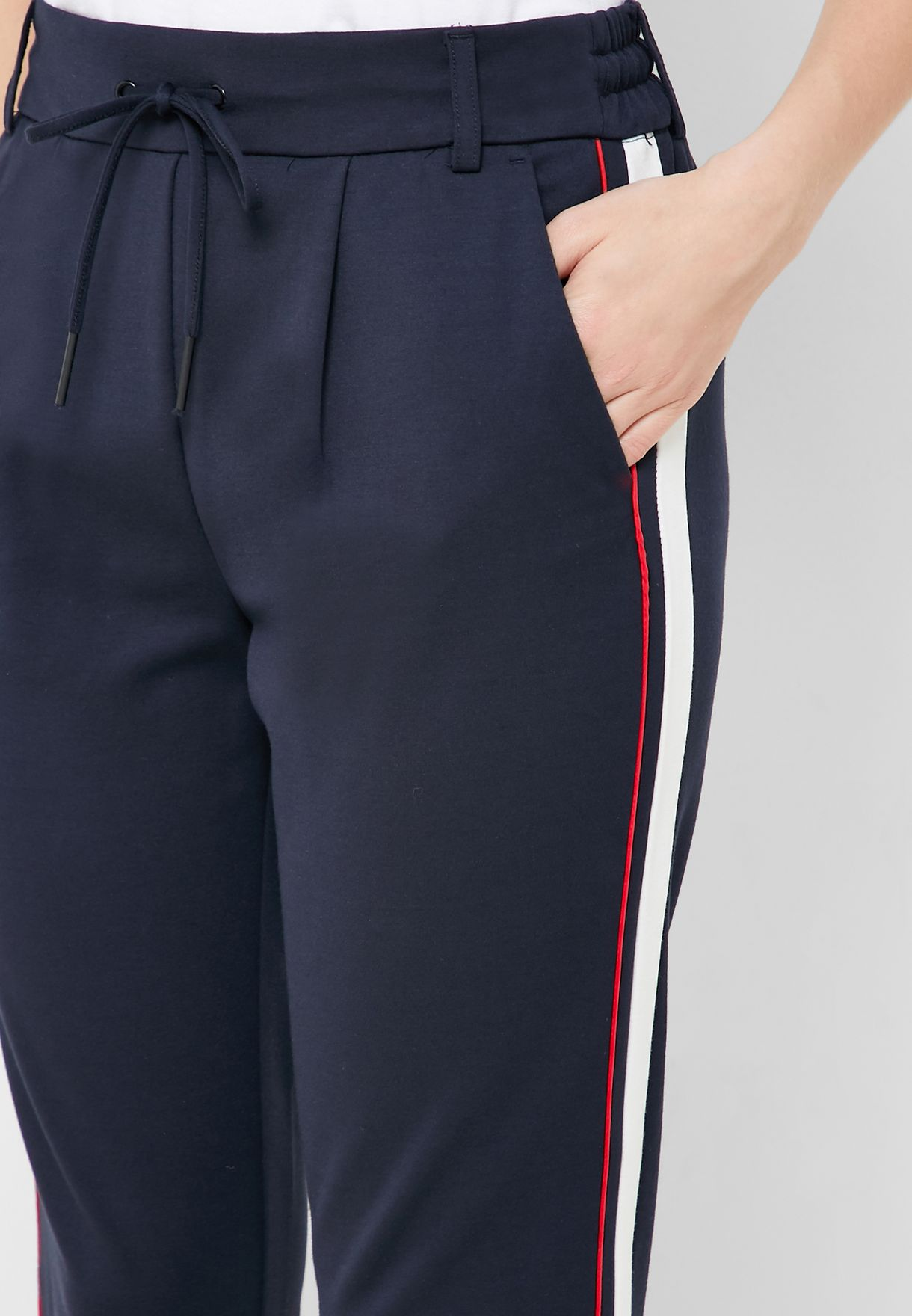 Side Panel Tie Waist Pants