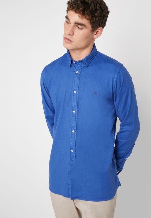 Garment Dyed Dobby Shirt