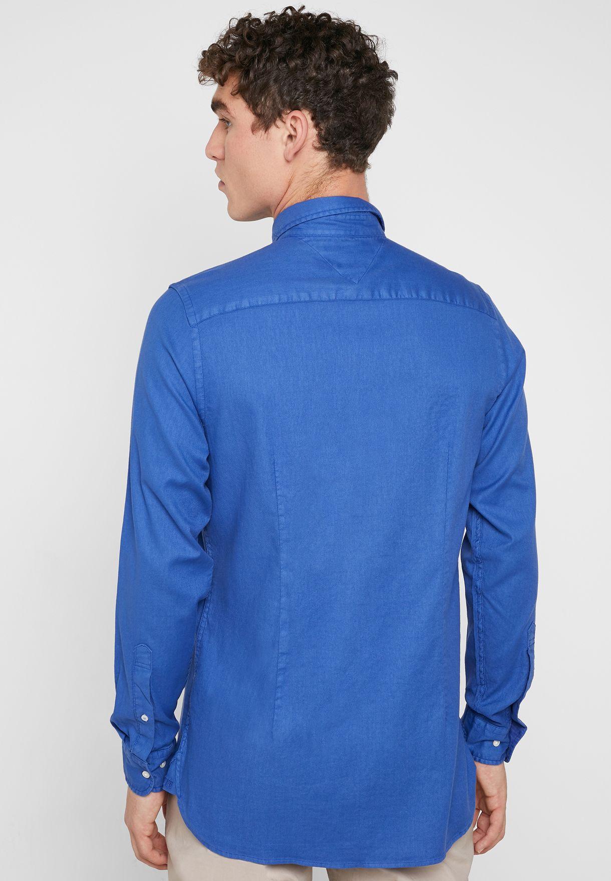 Garment Dyed Slim Fit Shirt