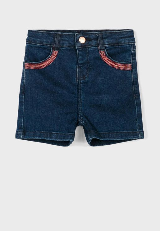 Kids Dark Wash Denim Shorts