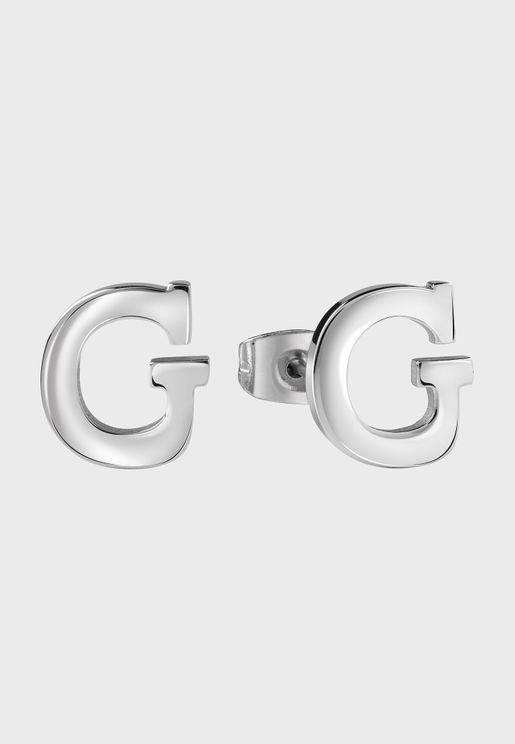 اقراط دبوسية بحرف G