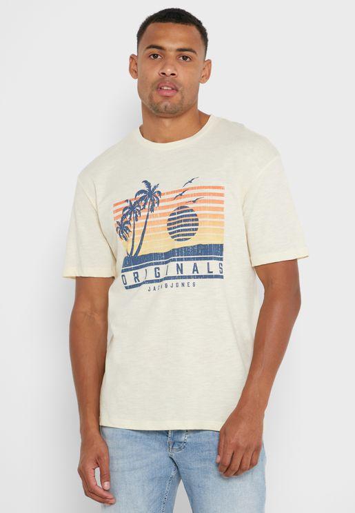 Logo Relaxed Crew Neck T-Shirt