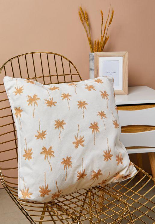 Palm Tree Printed Cushion