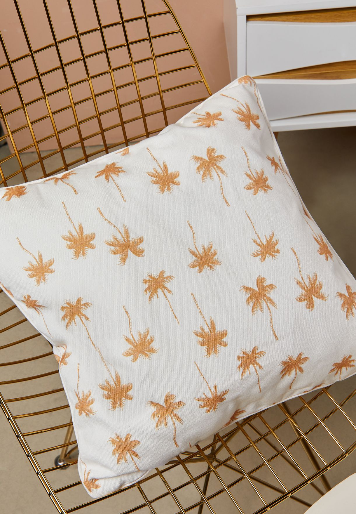 Palm Tree Printed Cushion
