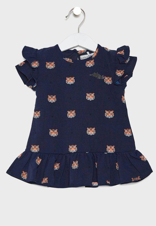 فستان بطبعة للاطفال