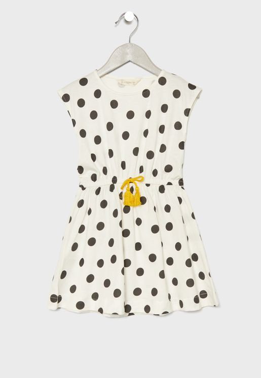 فستان منقط للاطفال