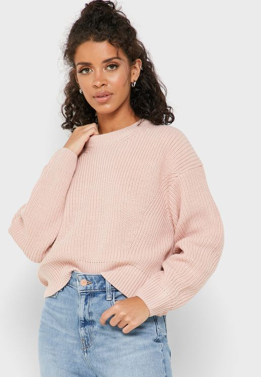 Drop Shoulder Knitted Sweater
