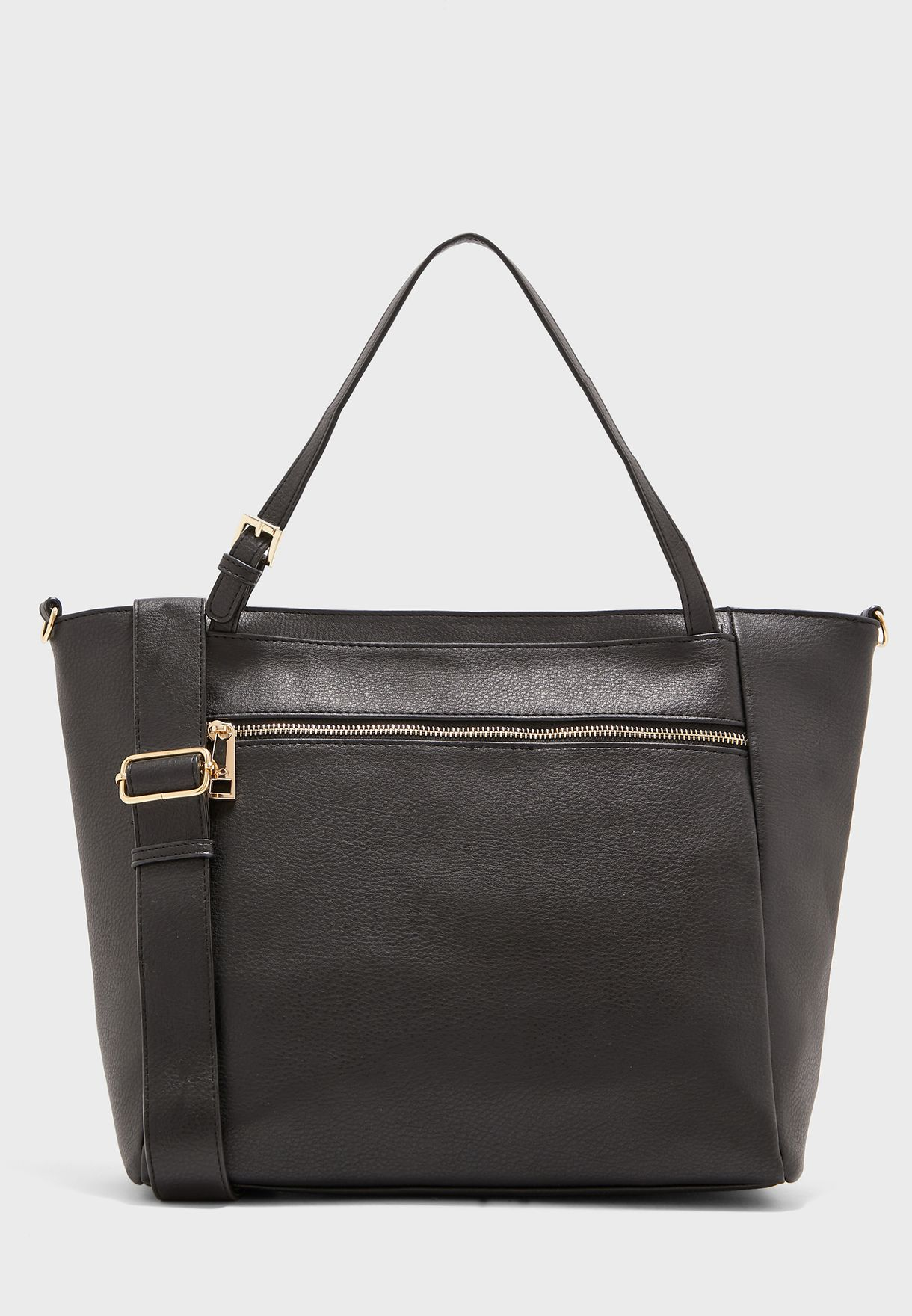 Front Zip Pocket Top Handle Tote