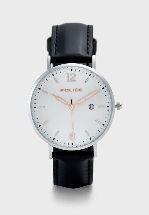 Calpe Leather Strap Analog Watch