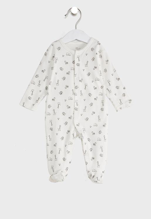 Infant Animals Print Onesie