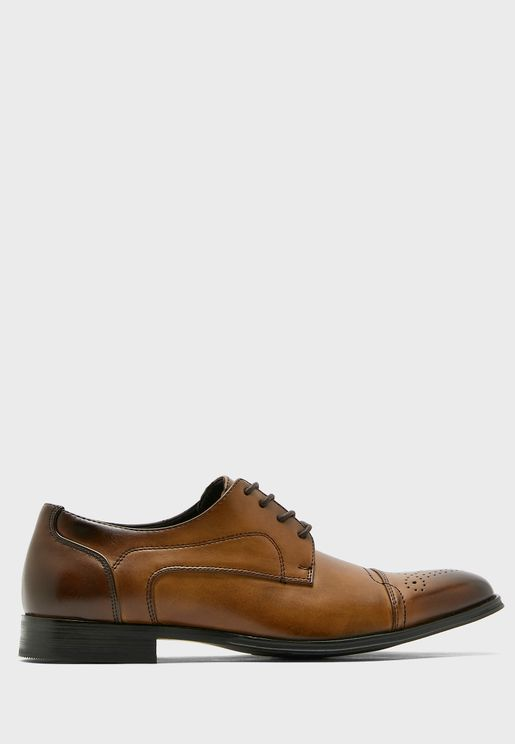 Faux Leather Classic Formal Lace Ups