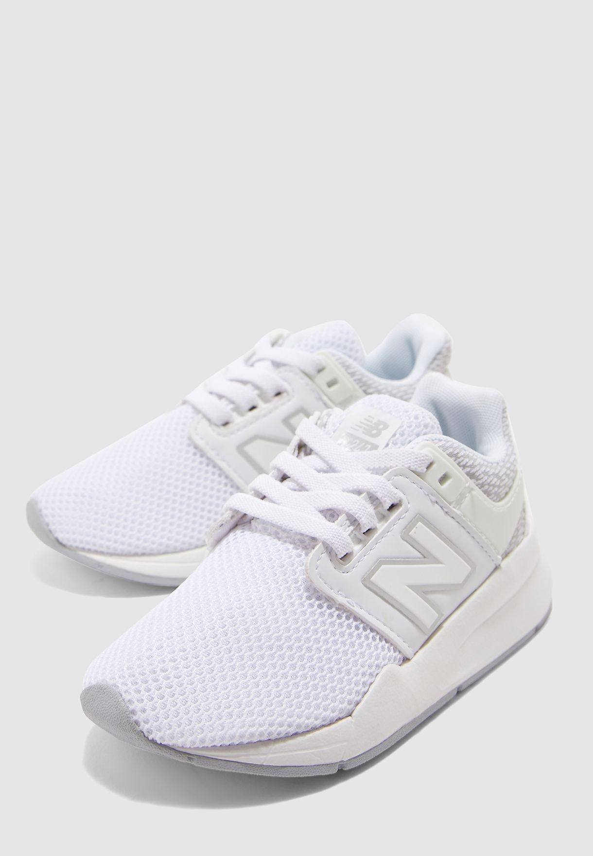 new balance kids white
