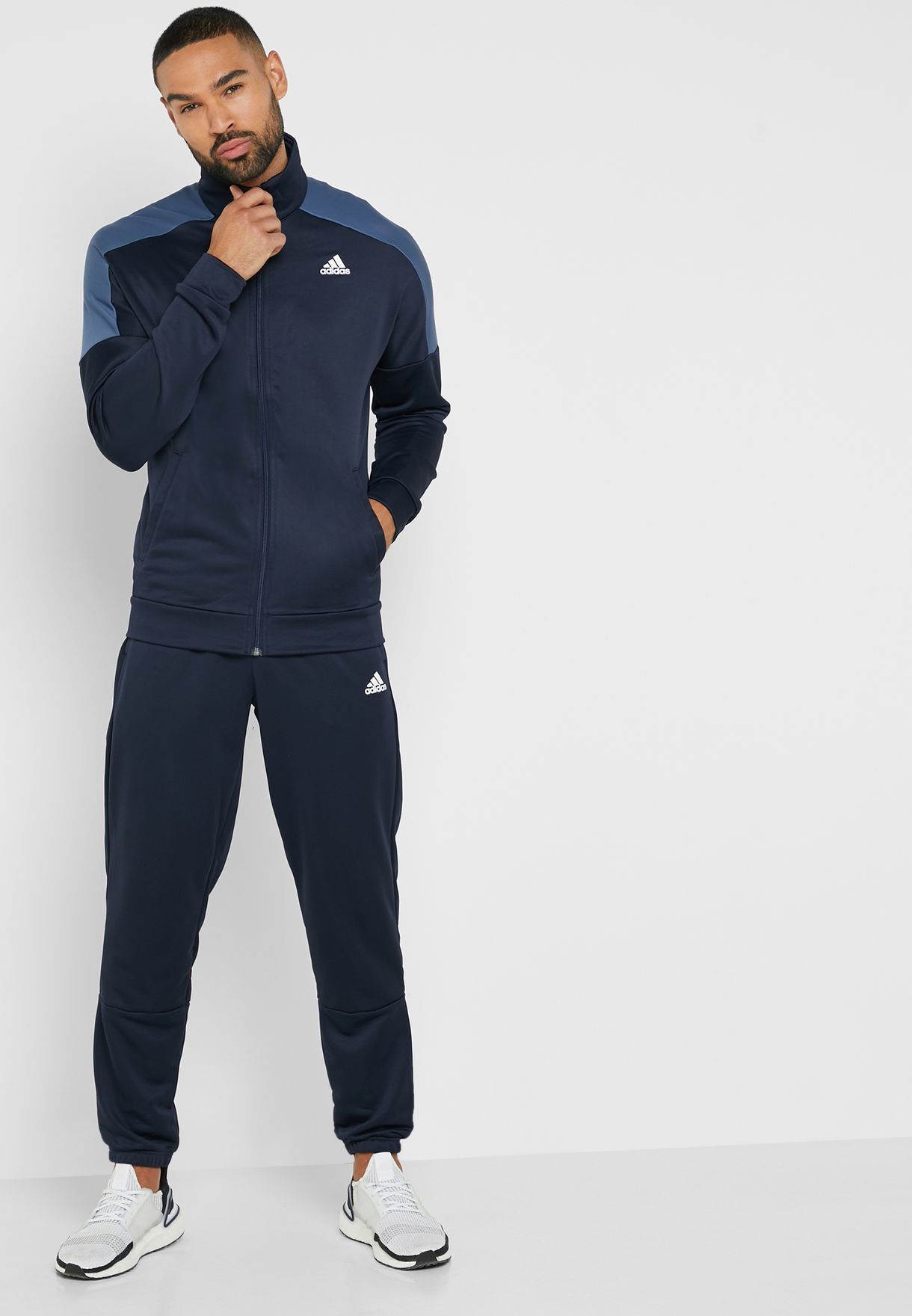 ff9e03aca Shop adidas navy MTS Badge Of Sport Tracksuit EB7653 for Men in UAE ...