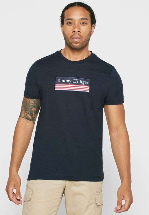 Flag Logo Crew Neck T-Shirt