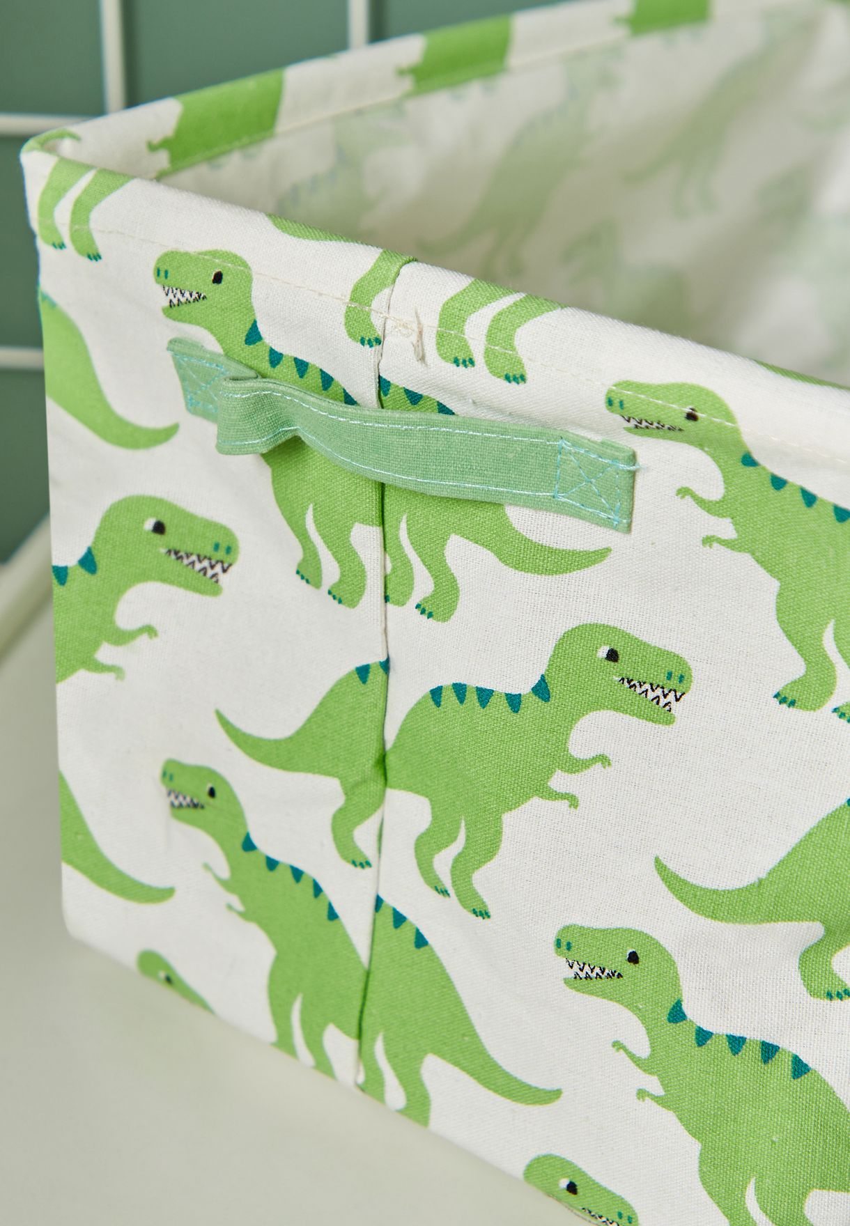 2 Pack Dinosaurs Canvas Basket
