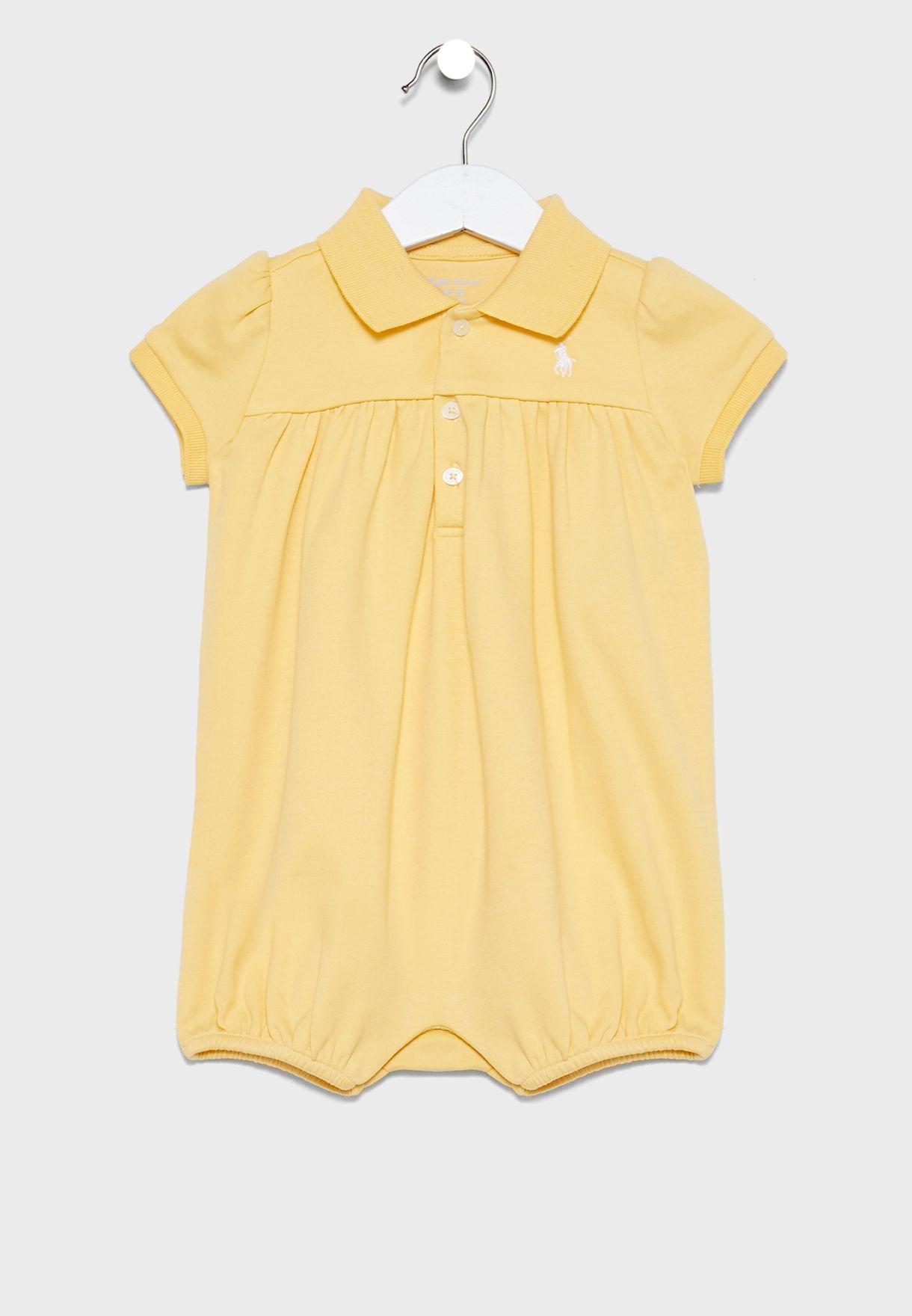 Infant Shirt Look Romper