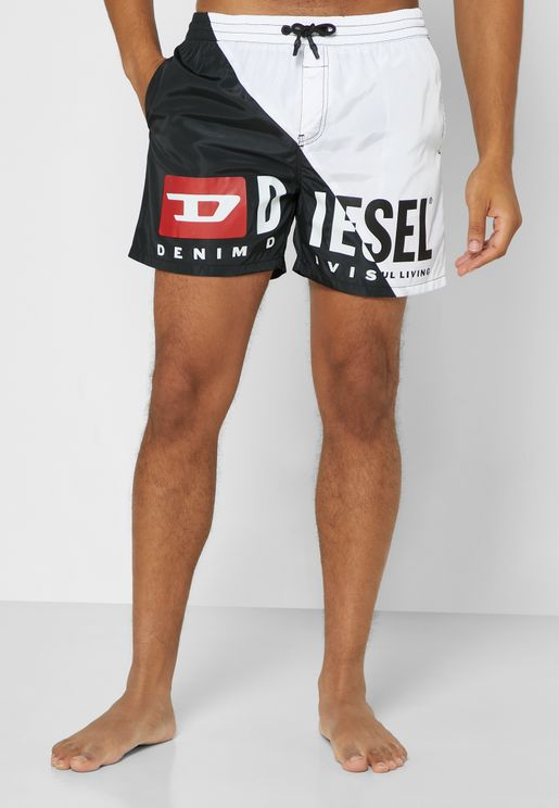 Drawstring Color Block Swim Shorts