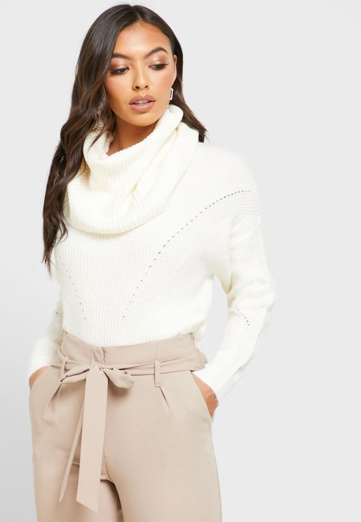 Roll Neck Oversized Sweater