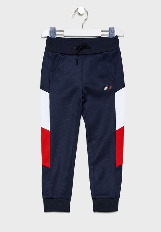 Kids Colour Block Cuffed Sweatpants