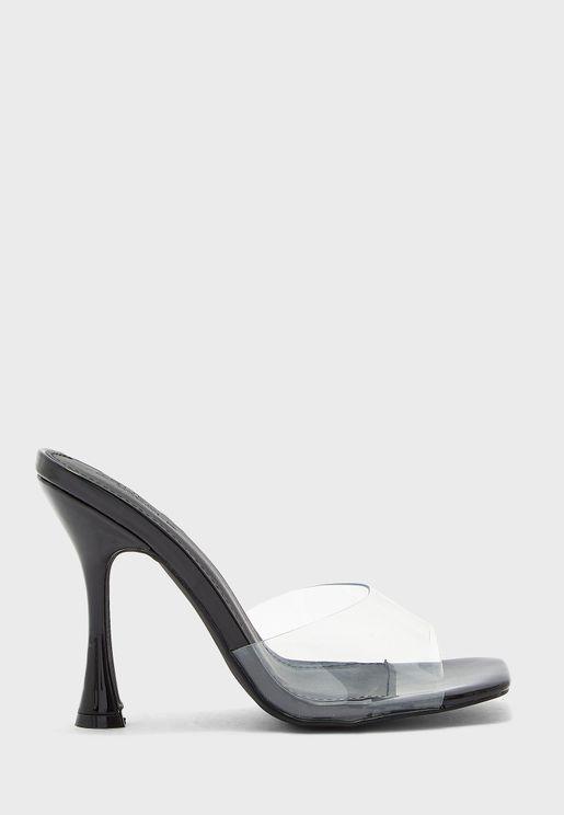 Clear Stiletto Sandals
