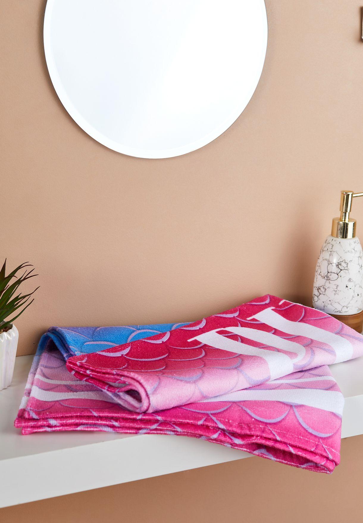 Kids Think Pink Printed Towel