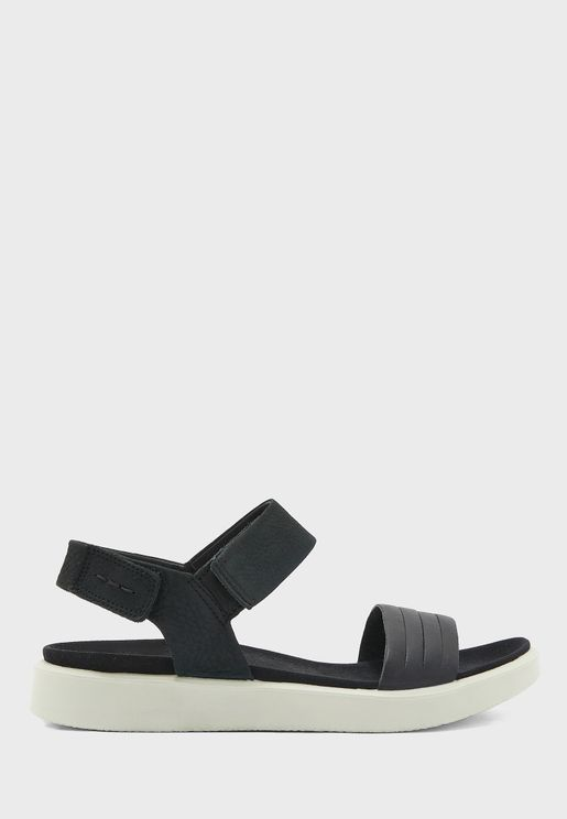 Flowt Ankle Strap Wedge Sandals