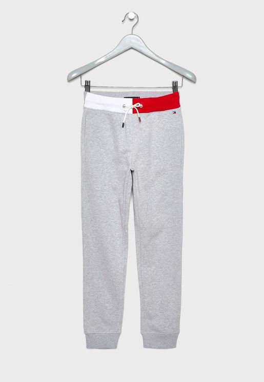 Teen Logo Patch Sweatpants
