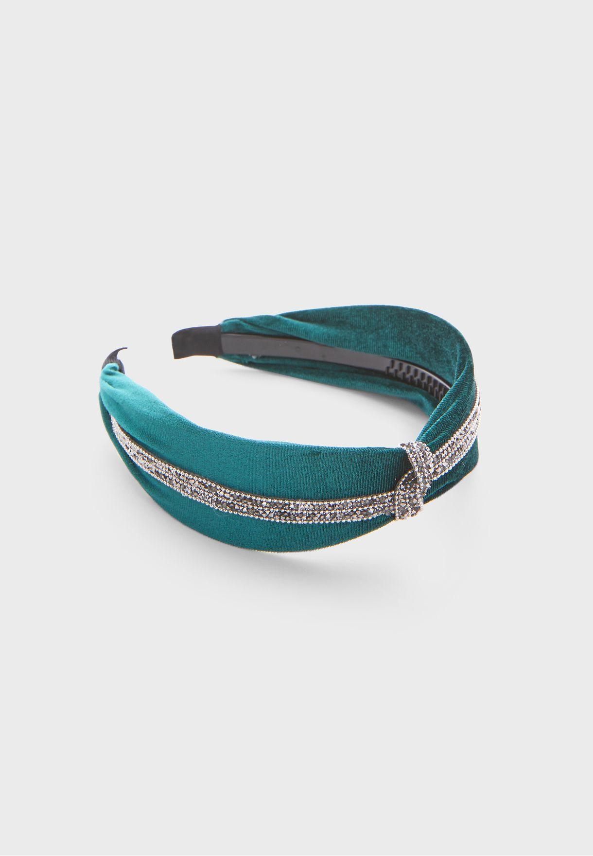 Diamante Knot Velvet Hairband