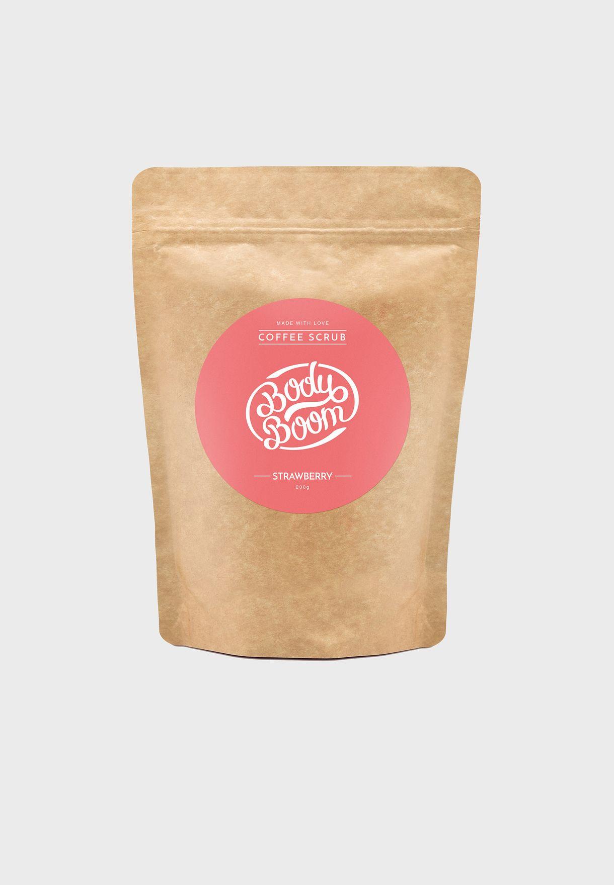 مقشر القهوة للبشرة - فراولة 100 جم