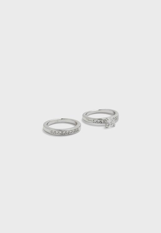 طقم من خاتمين للزواج