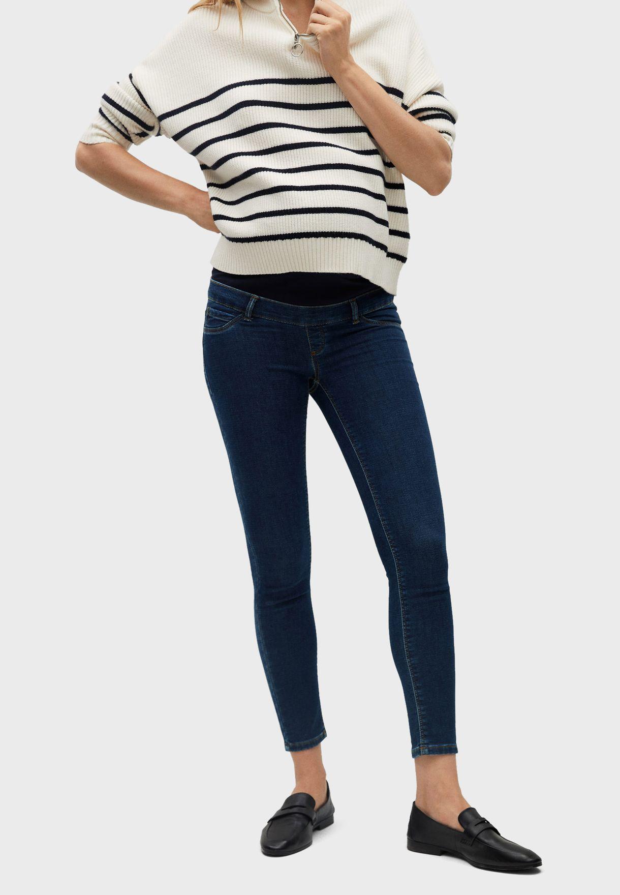 جينز بخصر عالي للحوامل