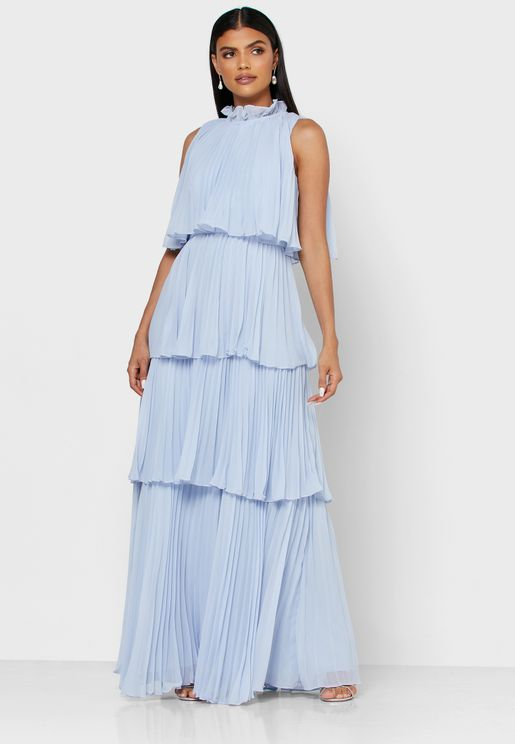 Layered Plisse Dress