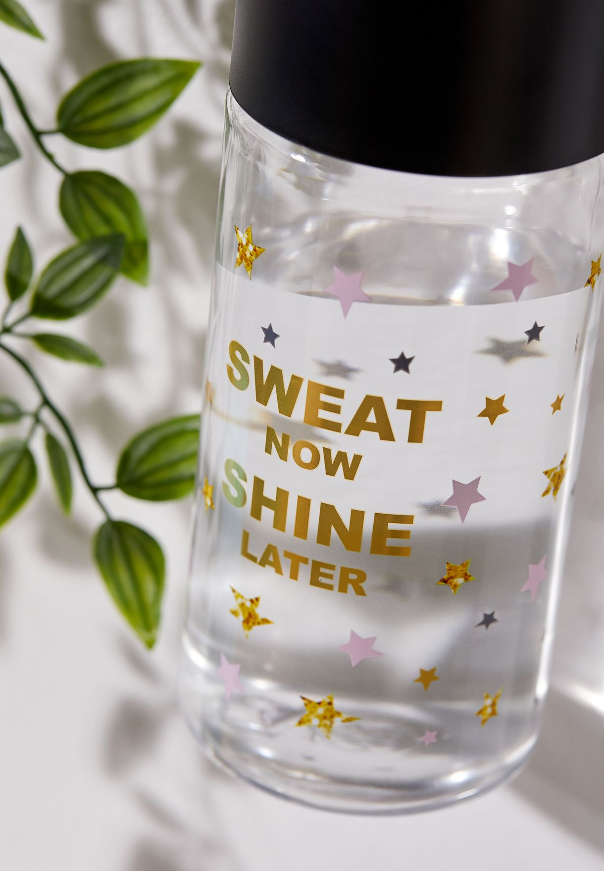 Sweat Now Shine Later Water Bottle With Hook 750 ml