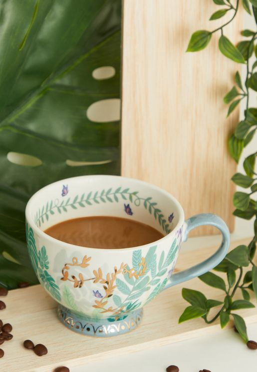 Boulevard Green Teacup With Gift Box