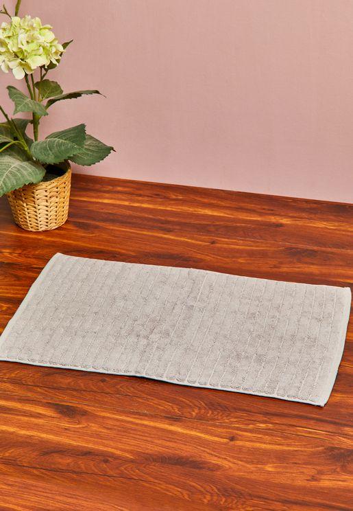 Small Cotton Linen Bath Mat