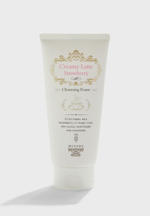 18 Creamy Latte Cleansing Foam-Strawberry