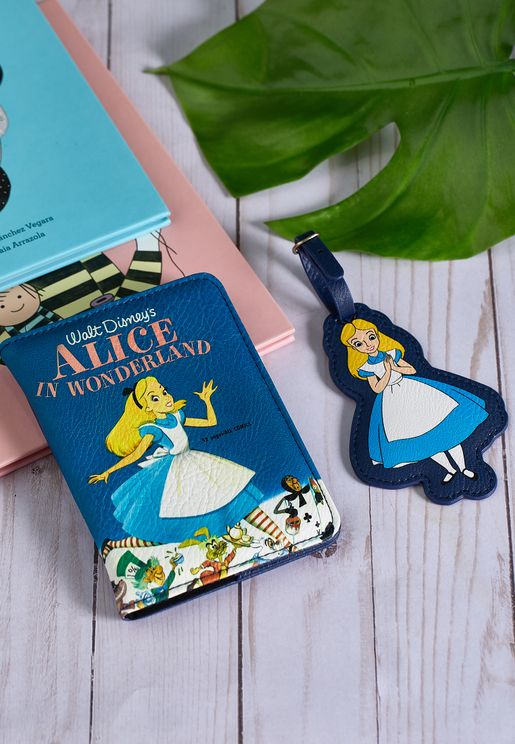 Alice In Wonderland Passport Holder & Luggage Tag