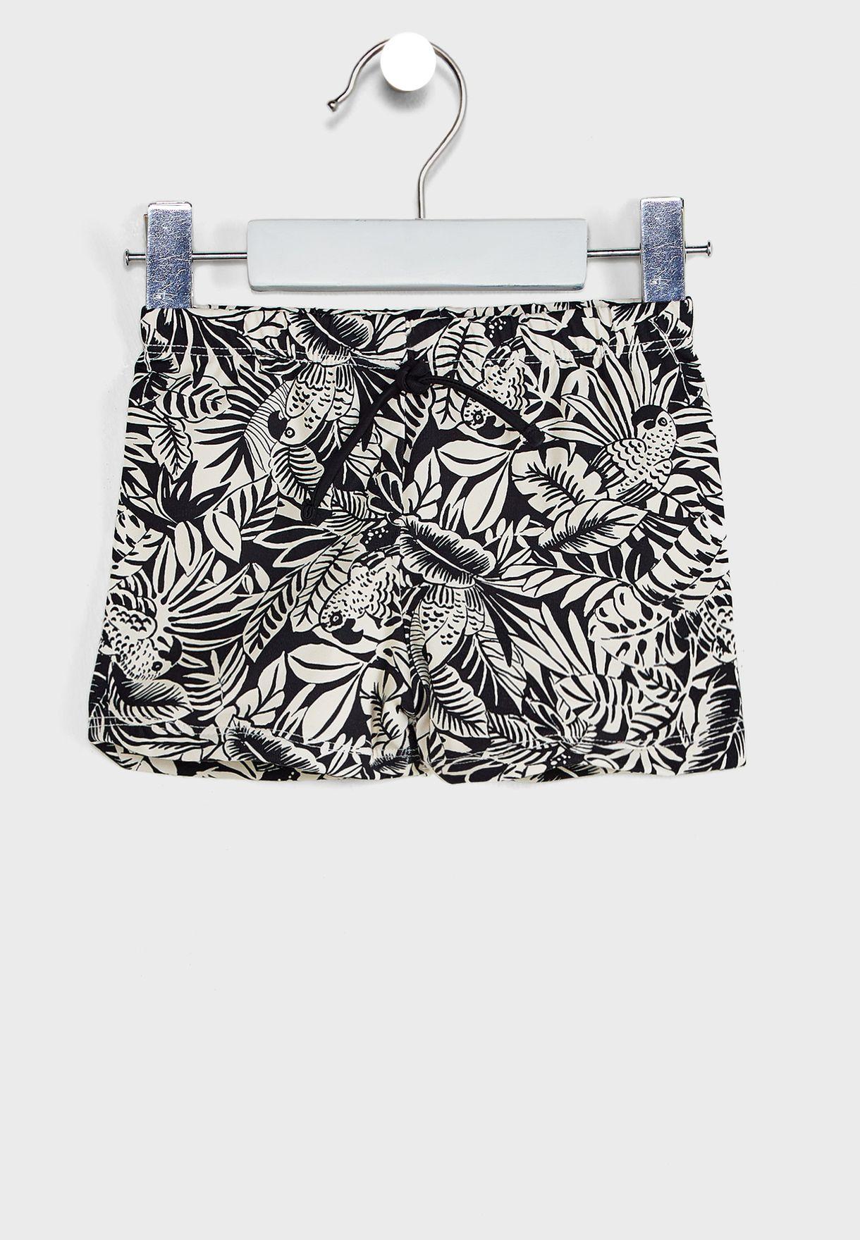 Infant Tropical Print Swim Shorts