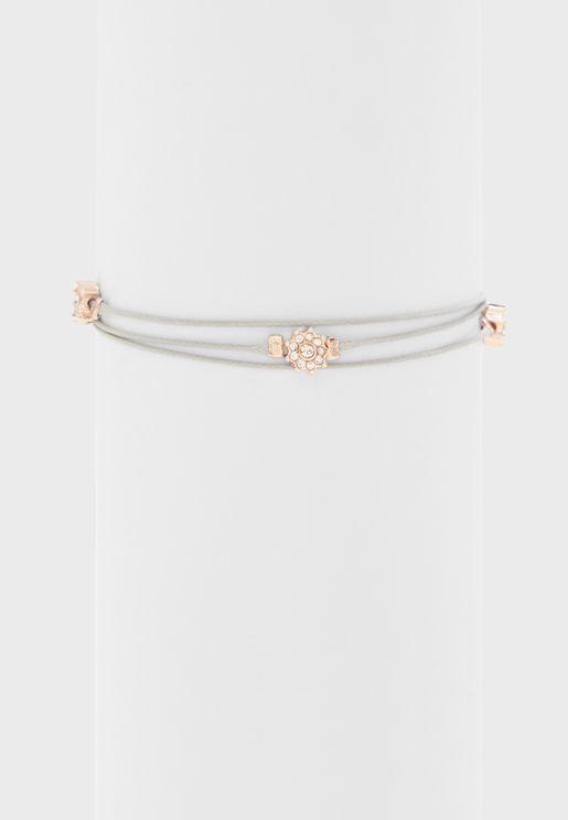 String Bead Detail Bracelet