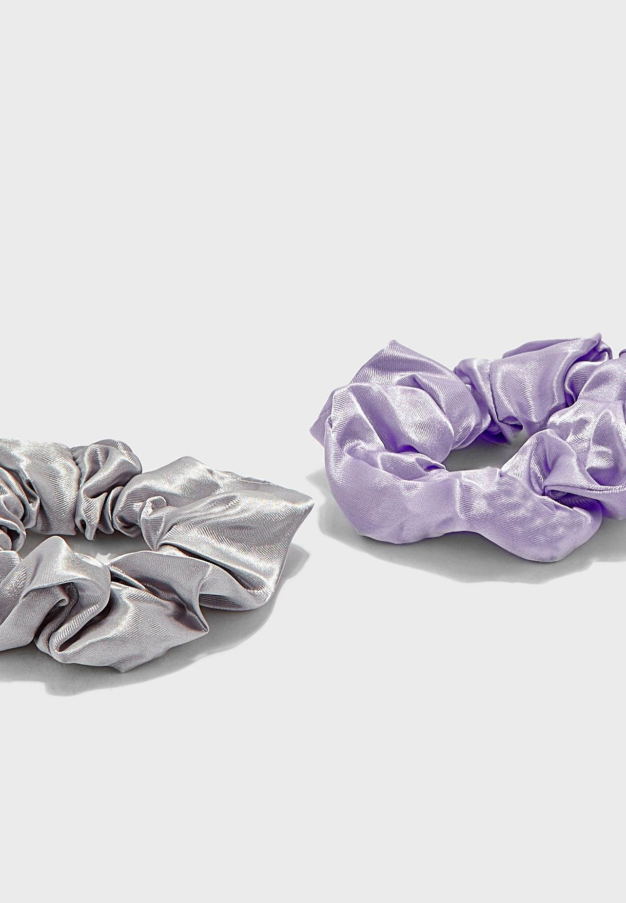 3 Pack Bright Coloured Satin Scrunchies