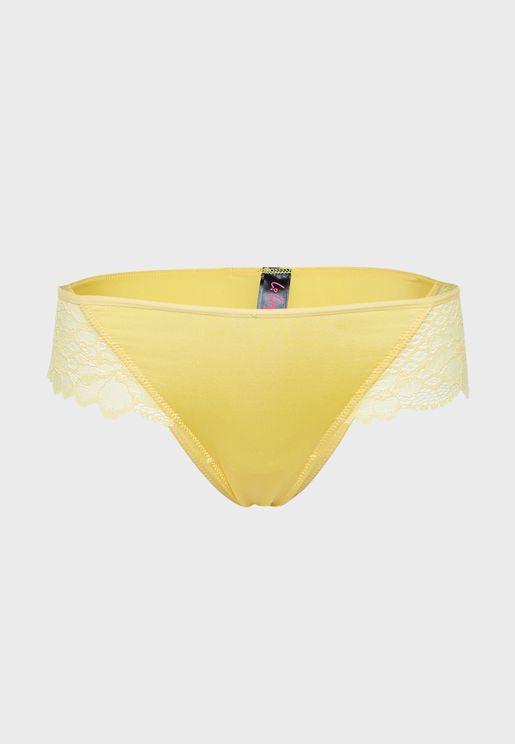 Lace Detail Thong