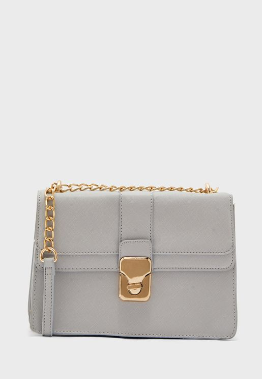 Chain Strap Cross Body with Lock Detail