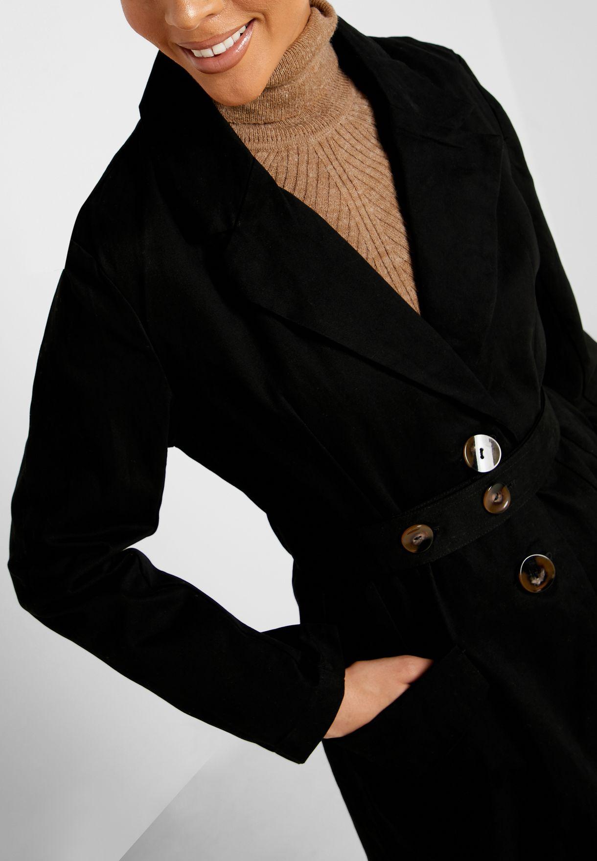 معطف بحزام