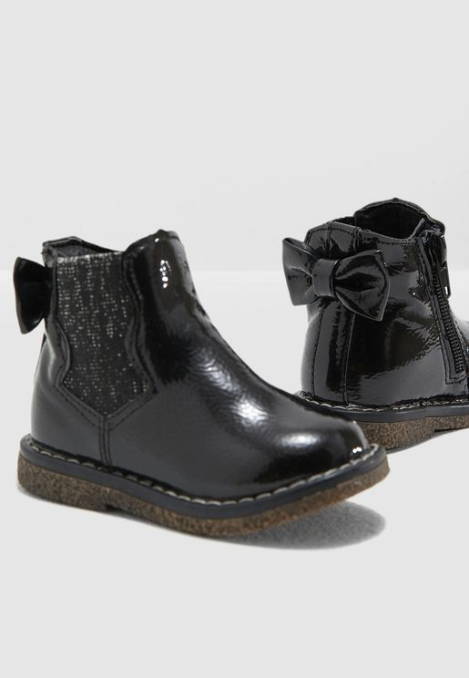 Infant Patent Leather Boots